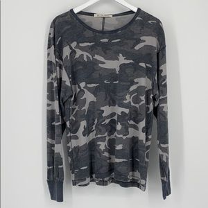 *We The Free Long Sleeve Camouflage Knit Top